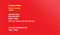 Bright Red Gradient Business Card Template